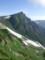 杓子岳に向いながら白馬岳を振り返る