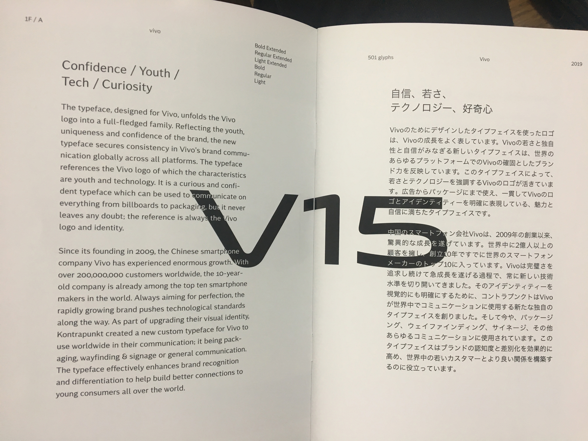 Sculptural TypeコントラプンクトのV15