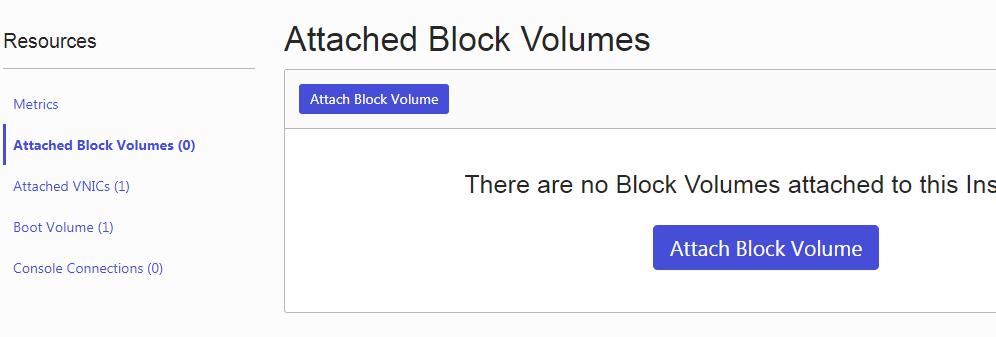 Block Volume を Attach