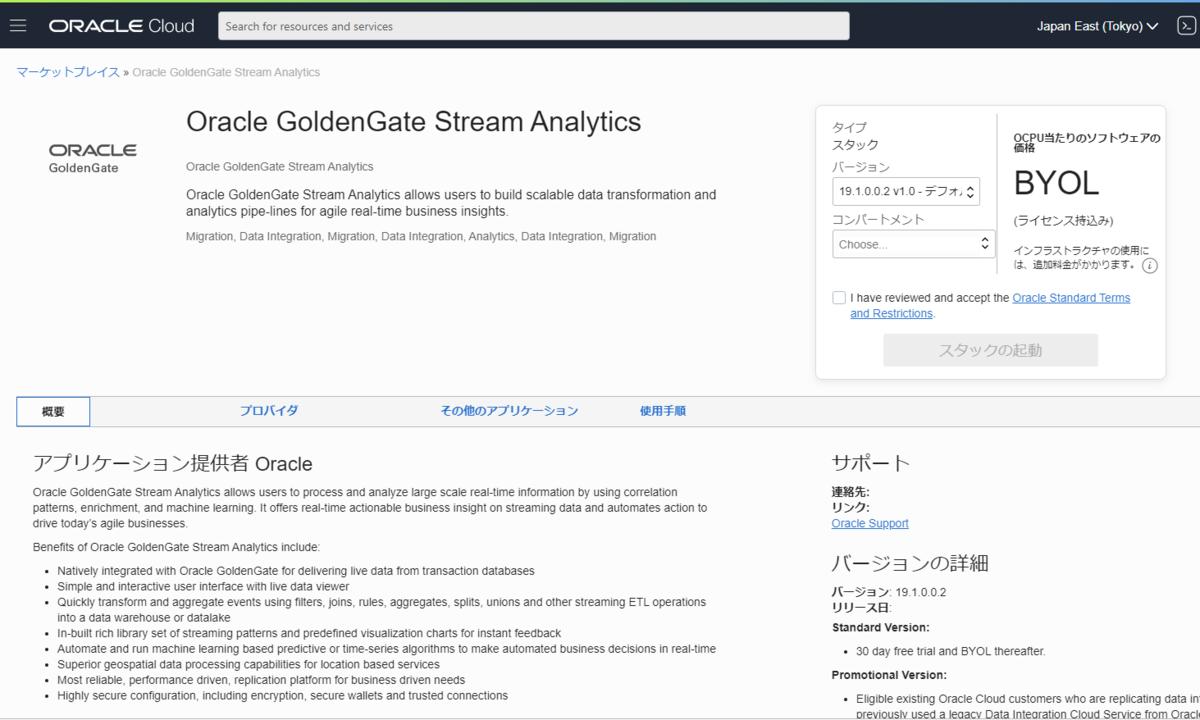 GoldenGate Stream Analytics イメージ