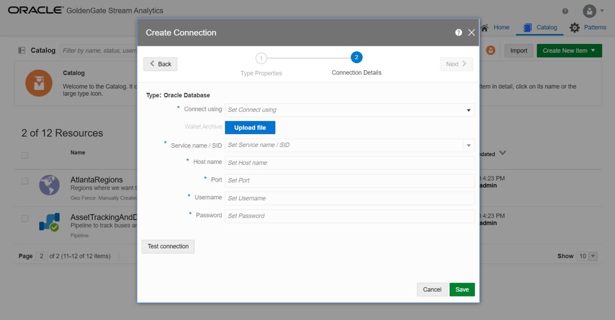 Oracle Database への接続