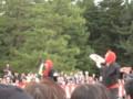 [時代祭]歌い踊る人たち。賑やか!
