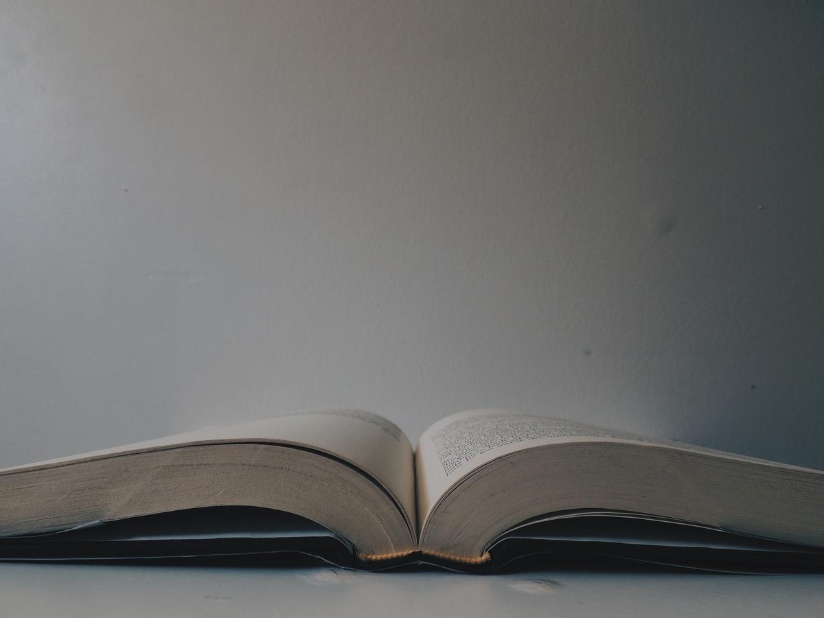 "<img src=""book.jpg"" alt=""見開きにされた分厚い本"">"