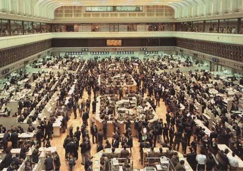 昔の証券取引所(立会場)
