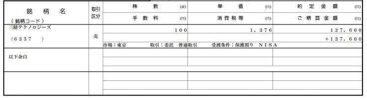 株式取引報告書(2018年5月)