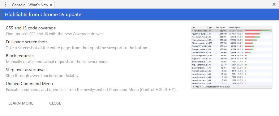 Chrome59新機能