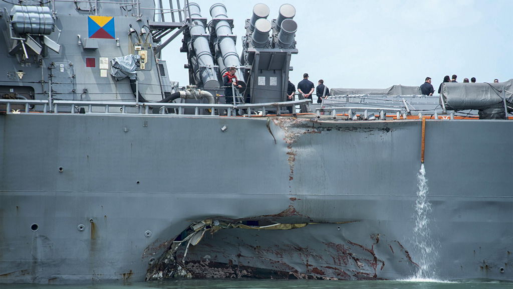Damage of DDG-56
