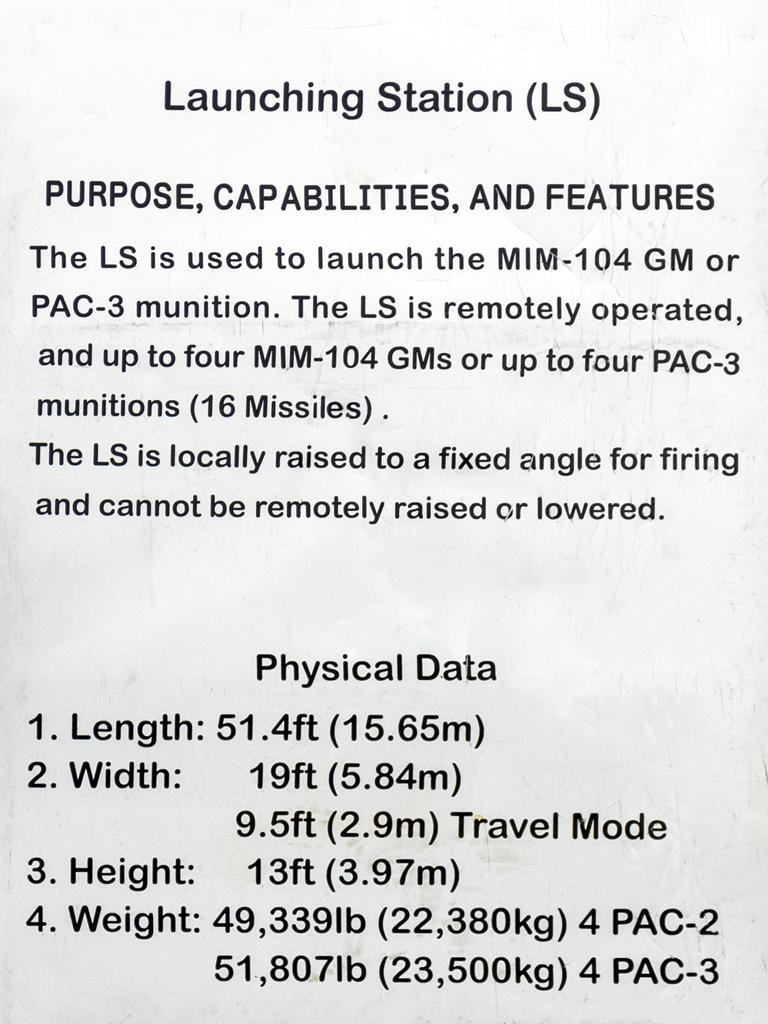Patriot LS description panel(E)