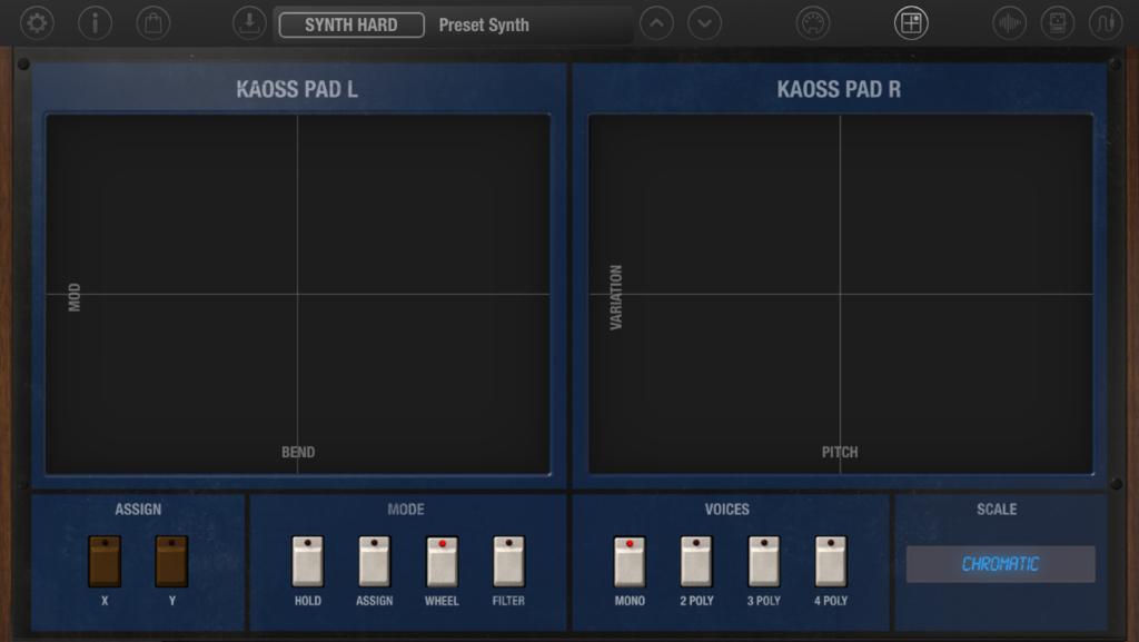 iMono/Poly XY Pad screen