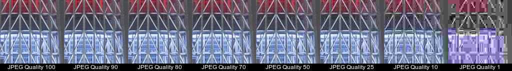 JPEG encoded images (cropped)