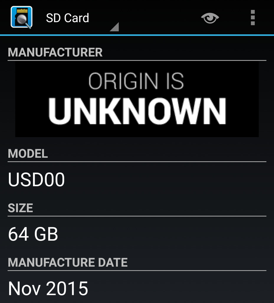 SDInsight says unknown manufacturer