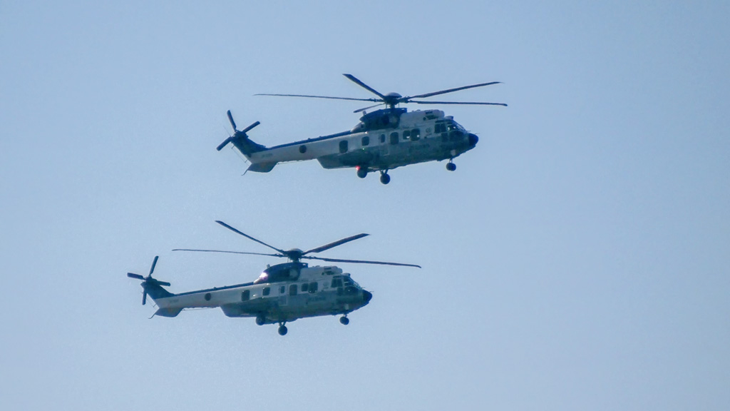 JGSDF EC225 flied to Golf course
