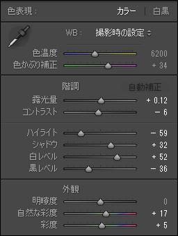 Image sample C parameters