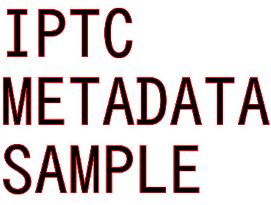 IPTC metadata sample