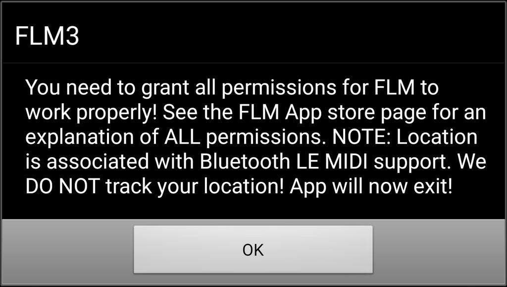 FL Studio Mobile permission request