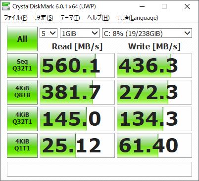 CrystalDiskMark result SAMSUNG MZMPD256HAGM-000H1(換装後)