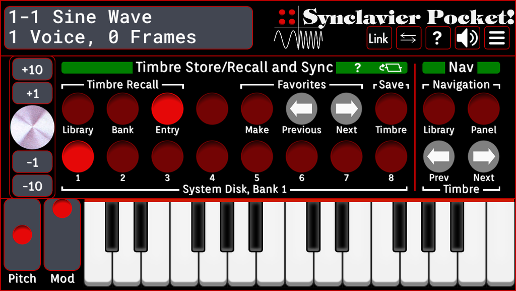Timbre Store/Recall and Sync 1