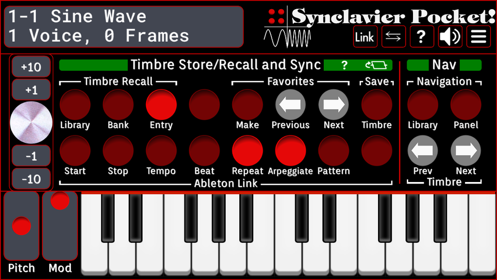 Timbre Store/Recall and Sync 2