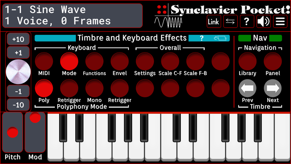 Timbre and Keyboard Effects - Mode