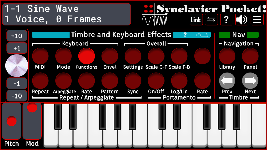 Timbre and Keyboard Effects - Functions