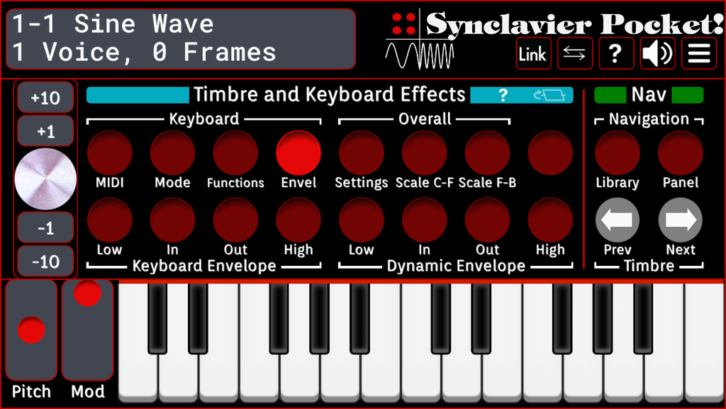 Timbre and Keyboard Effects - Envelope