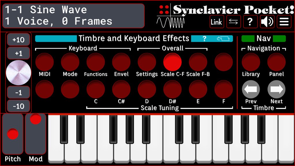 Timbre and Keyboard Effects - Scale C-F