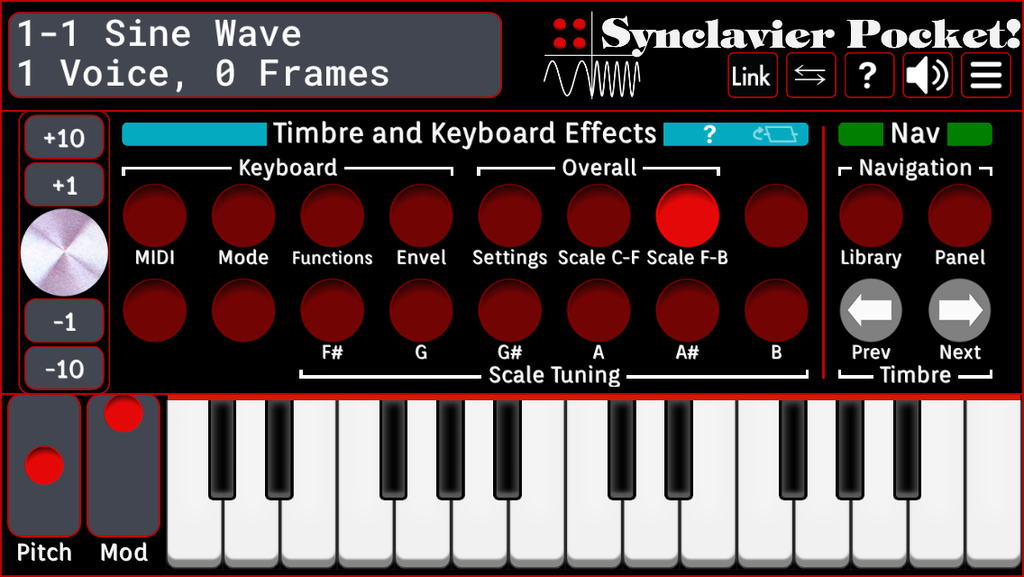 Timbre and Keyboard Effects - Scale F-B