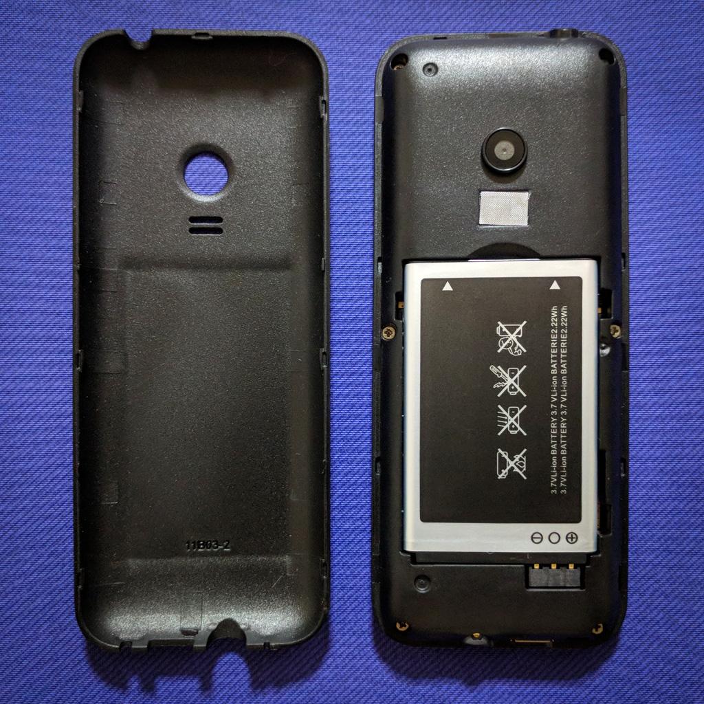 MINI Phone 2 rear cover opened