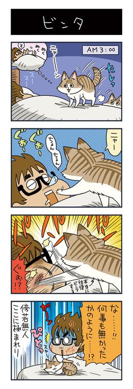 猫がビンタしている漫画