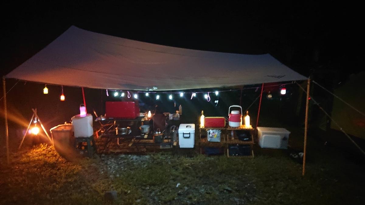 朽木キャンプ夜
