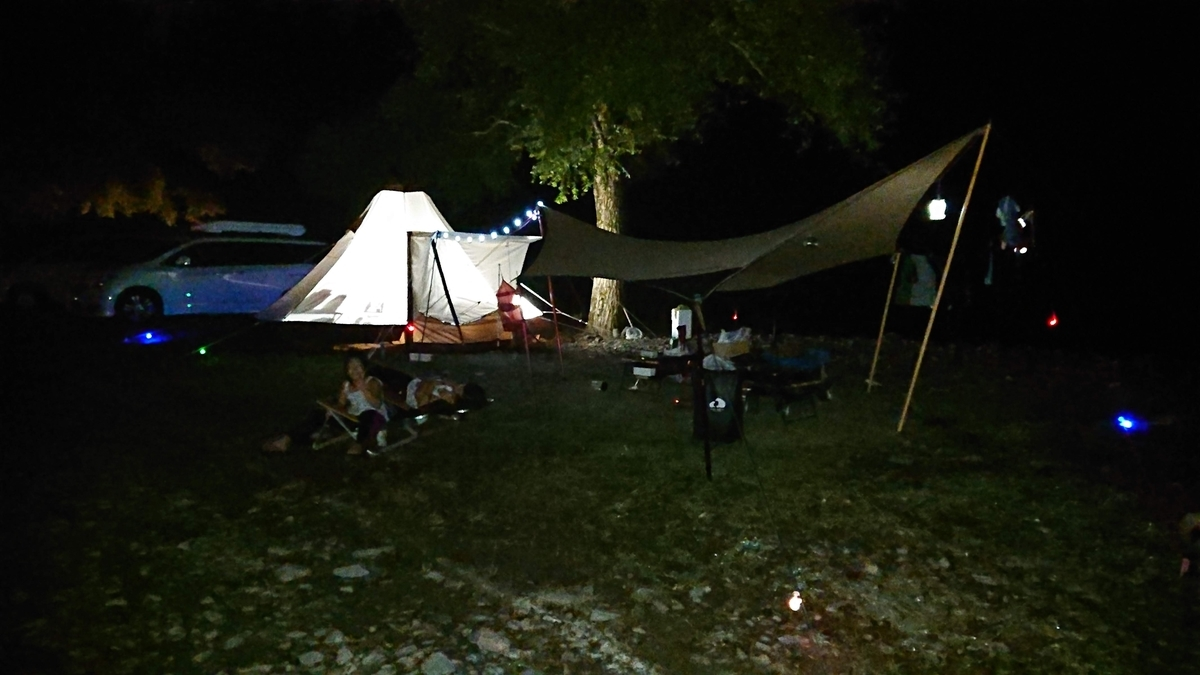 朽木キャンプ夜2