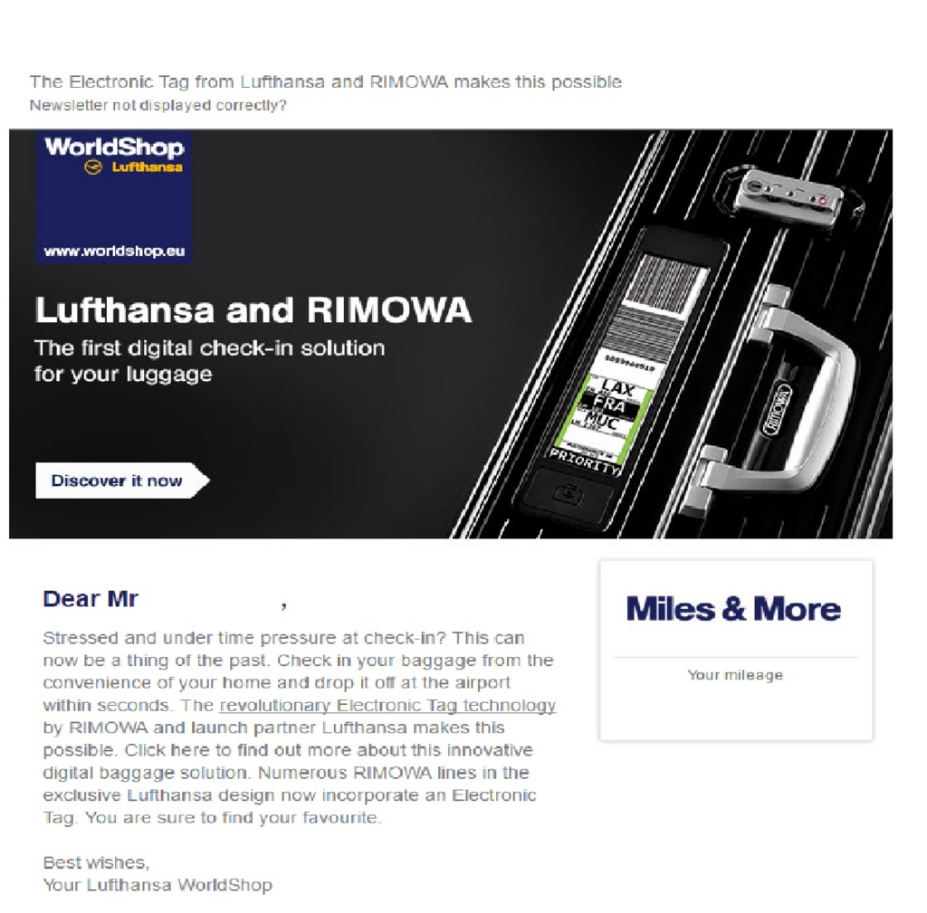 RIMOWA ルフトハンザ