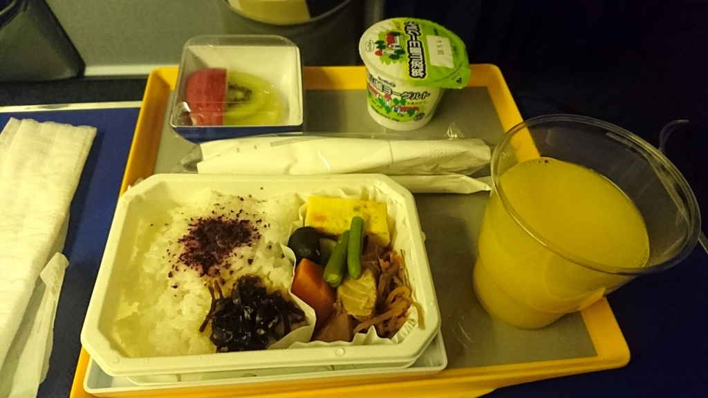 ANA_NH174成田ヒューストン機内食