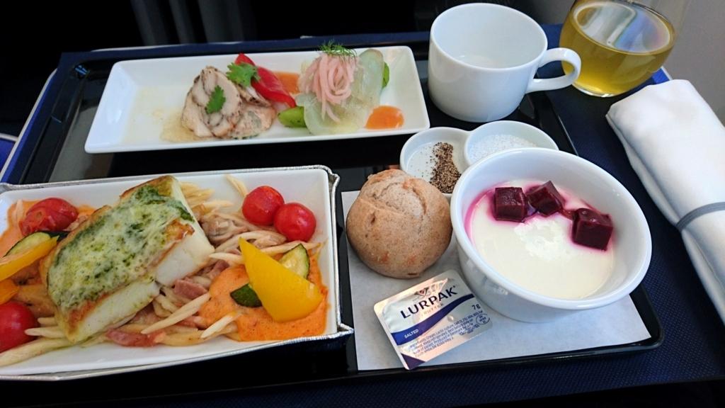 ana上海ビジネスクラス機内食