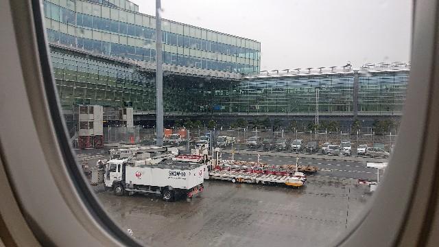 羽田空港の雪