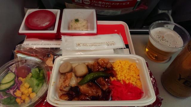 JAL成田浦東エコノミー機内食_JL879機内食