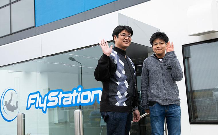 FlyStationに到着!