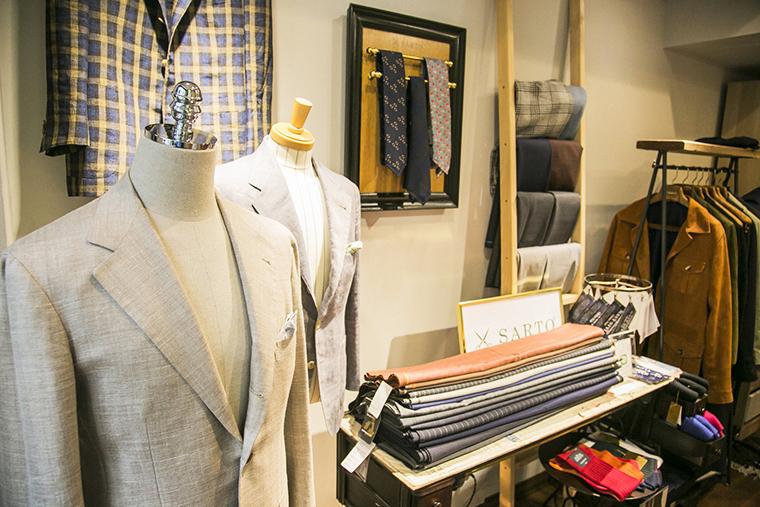 店内のイタリアのスーツのイメージ