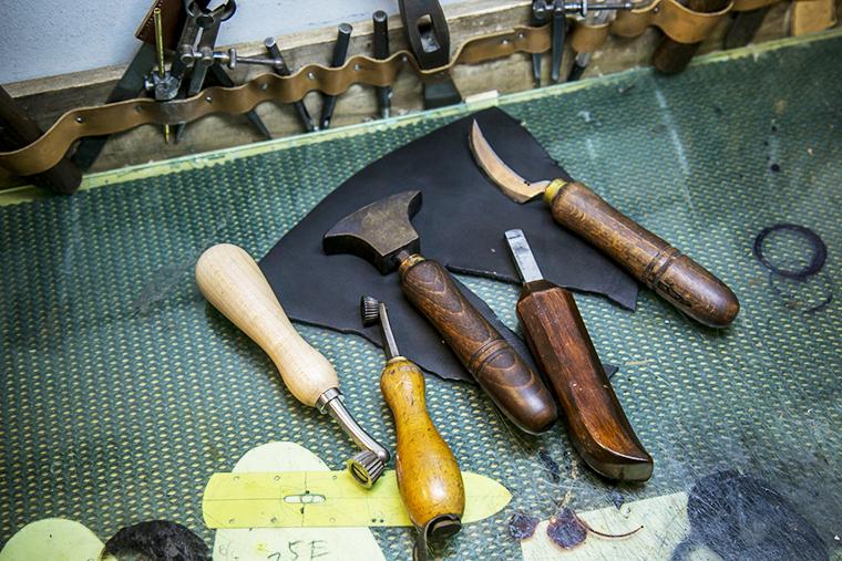 靴づくり、修理、カスタムに使う道具