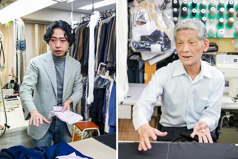 房長・内田 秀実さん(左)と、ベテラン職人・荒関 友三郎さん