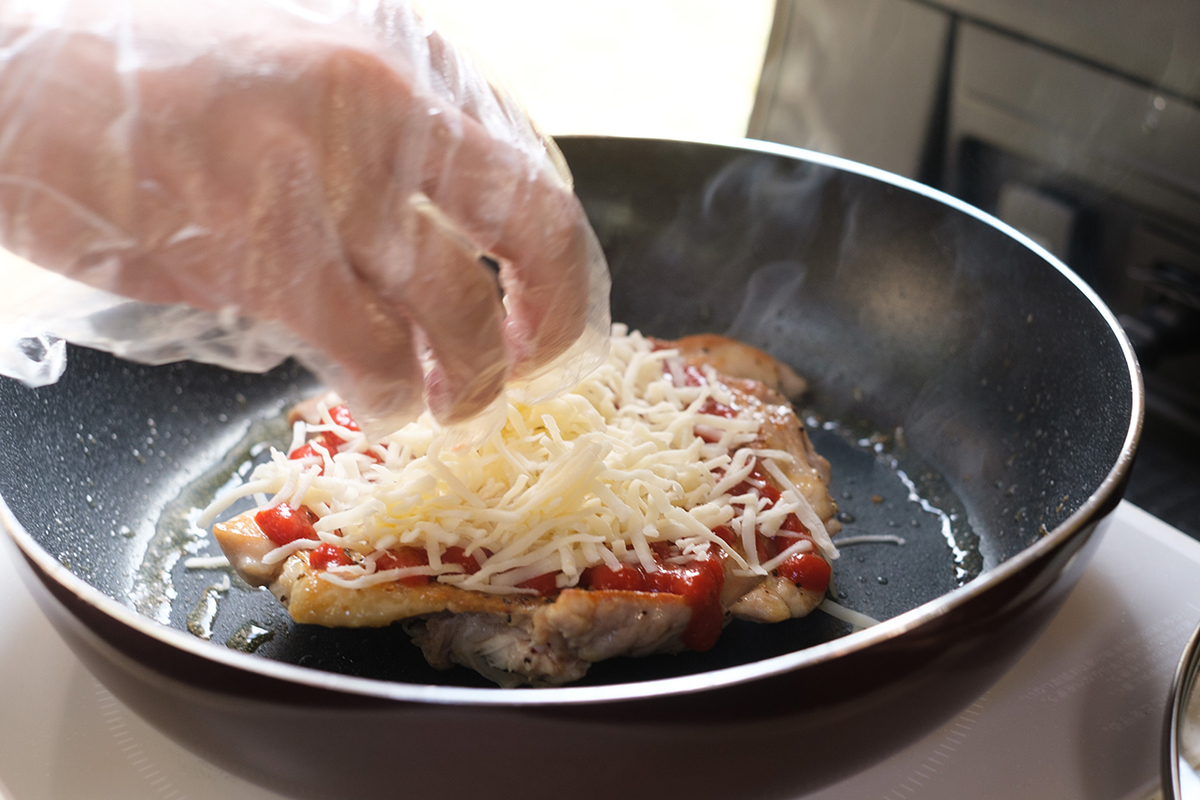 チーズをのせるところ