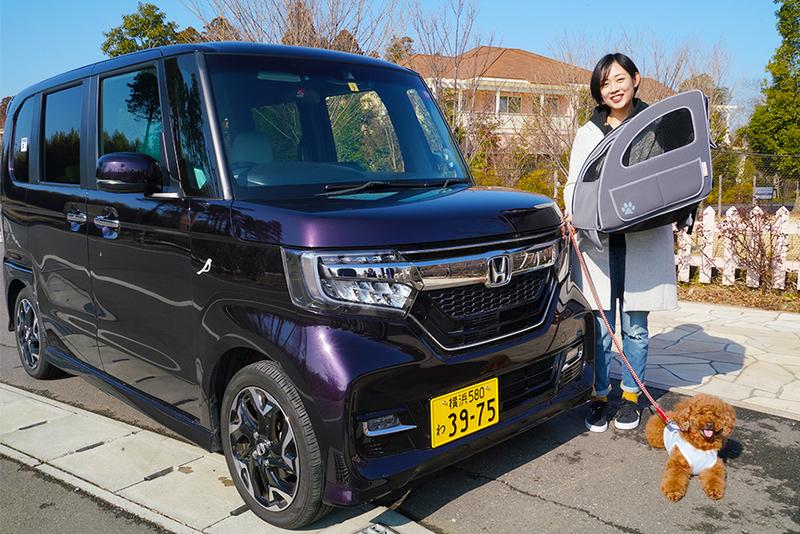 Honda EveryGo(Honda純正アクセサリー搭載車)とユキさんと愛犬のココア君