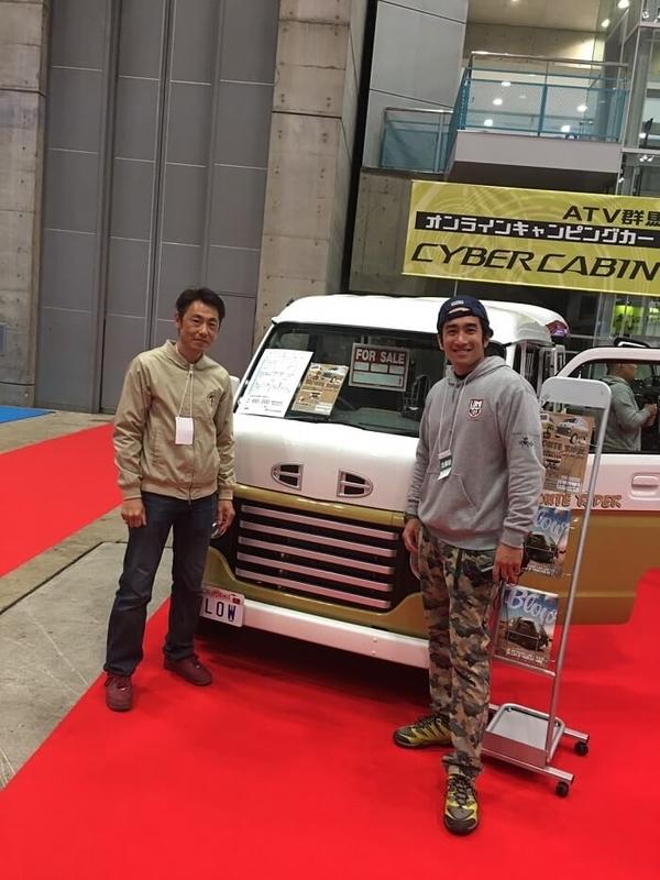 ブロー社が出展したジャパンキャンピングカーショー 幕張メッセの写真