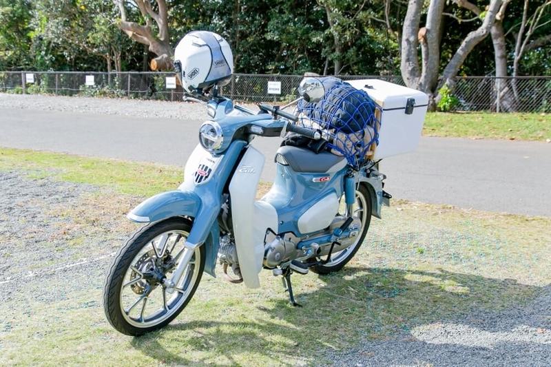 茅ヶ崎みなみさんの愛車スーパーカブC125の正面画像