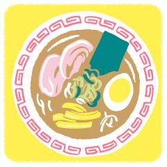 04 三碧木星、ラーメンのイラスト
