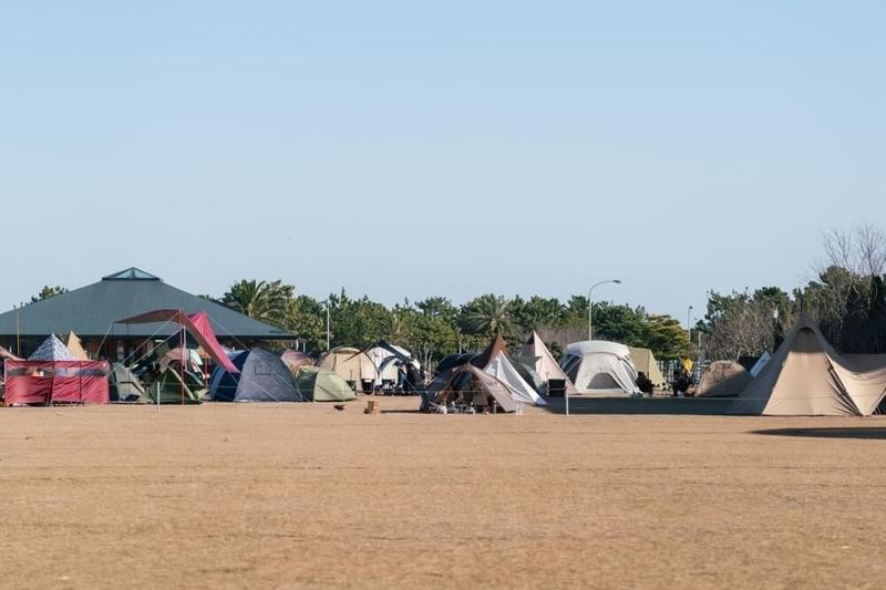 ゆるキャン聖地のモデルとなった静岡県浜松市の渚園キャンプ場