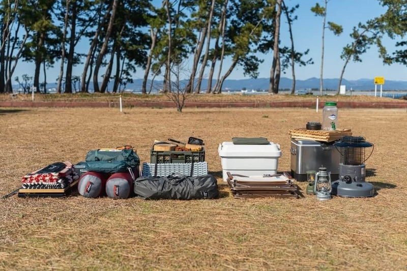 Hondaの軽自動車N-VANでキャンプをする際の荷物一式