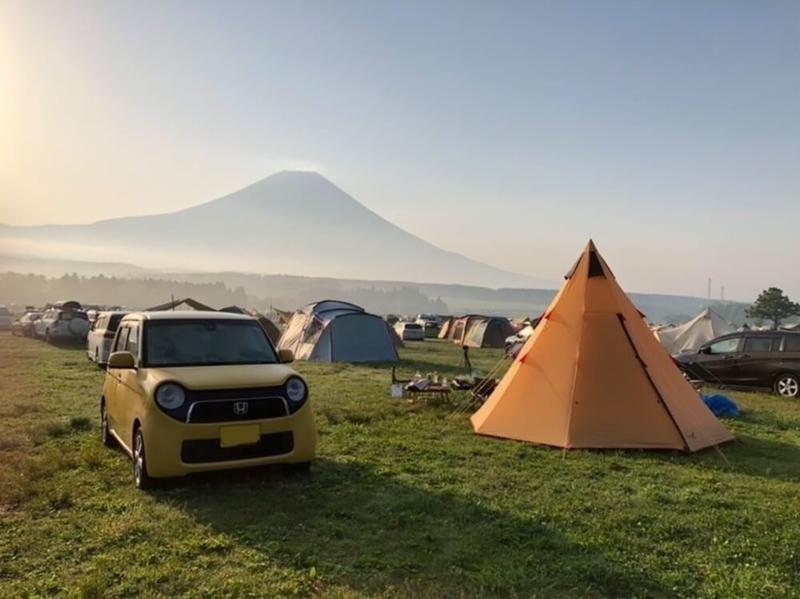 Hondaの軽自動車N-ONEでキャンプをしていた頃の写真