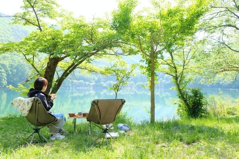 四尾連湖水明荘キャンプ場の写真