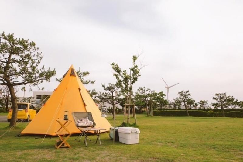 野外のもりこさんキャンプ写真。N-ONE時代